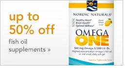 up to 50% off fish oil supplements