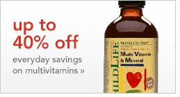 up to 40% off everyday savings on multivitamins