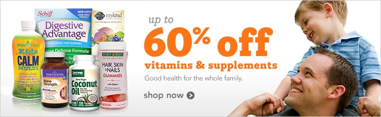 Up to 60% off Vitamins and Supplements | good health for the whole family