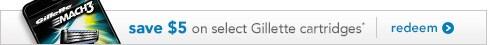 Save $5 on select Gillette cartridges