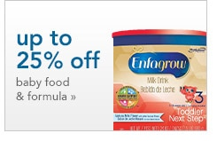 up to 25% off baby food and formula