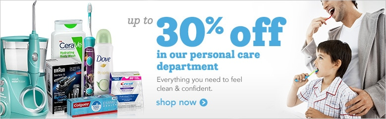 up to 30% off personal care products