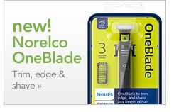 New! Norelco OneBlade | Trim, edge & shave