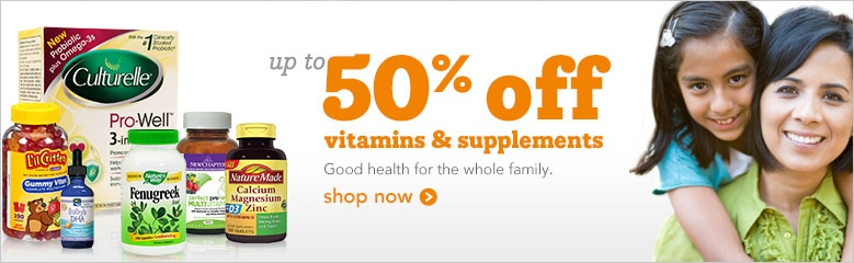 Up to 50% off Vitamins and Supplements | good health for the whole family