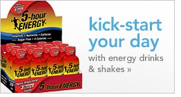 kick-start your day with energy drinks and shakes