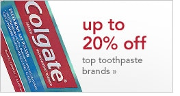 up to 20% off top toothpaste brands