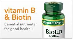 vitamin B & Biotin, essential nutrients for good health