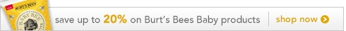 Save Save 20% on Burt's Bees Baby