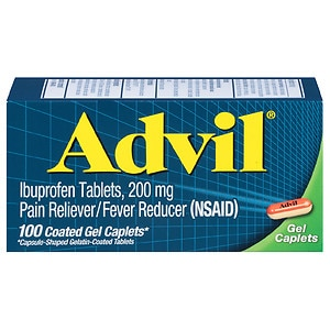 Advil Advanced Medicine for Pain, 200mg, Gel Caplets- 100 ea