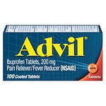 Advil Advanced Medicine for Pain, Easy Open Cap, 200mg, Tablets- 100 ea