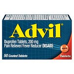 Advil Pain Reliever/Fever Reducer Coated Tablets- 50 ea