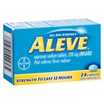 Aleve All Day Strong Pain Reliever, Fever Reducer, Caplets- 24 ea