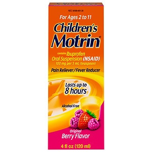 Children's Motrin Ibuprofen Oral Suspension, Fever Reducer/Pain Reliever, Berry Liquid- 4 oz