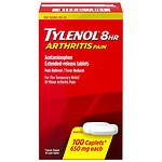 TYLENOL Arthritis Pain Caplets, 8 HR Extended Release Pain Reliever & Fever Reducer- 100 ea