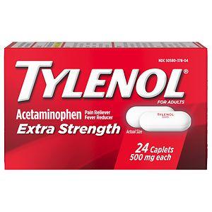 TYLENOL Extra Strength Acetaminophen 500 mg Caplets- 24 ea