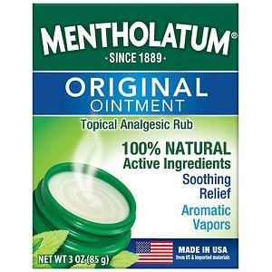 Mentholatum Ointment/Topical Analgesic/Aromatic Vapors- 3 oz