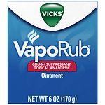 Vicks VapoRub Cough Suppressant Topical Analgesic Ointment ,