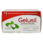Gelusil Antacid, Anti-Gas Tablets, Peppermint
