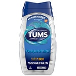 Tums Ultra Strength 1000 Antacid/Calcium Supplement Chewable Tablets, Peppermint- 72 ea