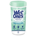 Wet Ones Sensitive Skin Hand Wipes, Extra Gentle, Fragrance & Alcohol Free- 40 ea