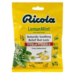 Ricola Herb Throat Drops, Sugar Free, Lemon Mint- 19 ea