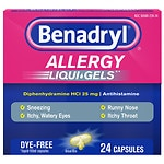 Benadryl Dye-Free Allergy Relief, Liqui-gels
