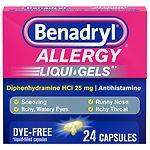 Benadryl Allergy Dye-Free Liqui-Gels- 24 capsules