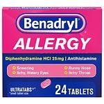 Benadryl Allergy Relief, Ultratab Tablets- 24 ea