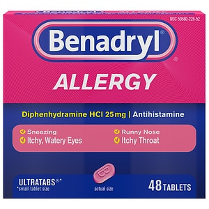 Benadryl Allergy Relief, Ultratab Tablets