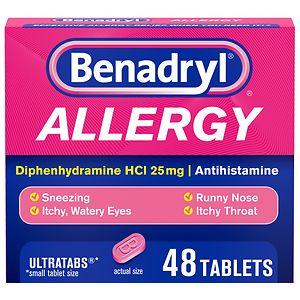 Benadryl Allergy Relief, Ultratab Tablets- 48 ea