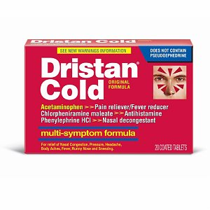 Dristan Multi-Symptom Nasal Decongestant, Coated Tablets- 20 ea