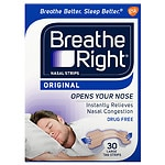 Breathe Right Nasal Strips, Large, Tan