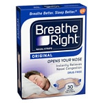 Breathe Right Nasal Strips, SM/MED, Tan- 30 ea
