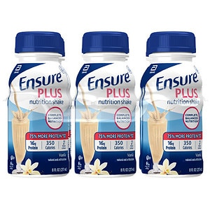 Ensure Plus Nutrition Shake, 8 fl oz, Vanilla