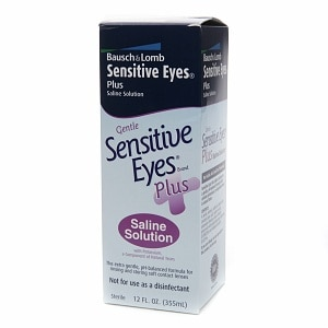 Sensitive Eyes Plus Saline Solution For Soft Contact Lenses, With Potassium