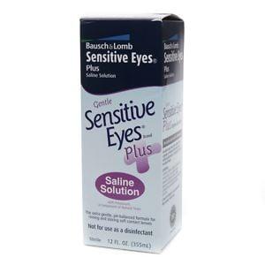 Sensitive Eyes Plus Saline Solution For Soft Contact Lenses, With Potassium- 12 fl oz