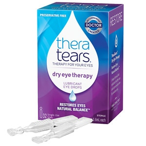 TheraTears Lubricant Eye Drops, Single-Use Containers, 32 ea