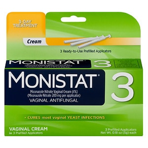 Monistat 3 Vaginal Antifungal Cream, Prefilled Applicator