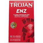Trojan Non-Lubricated Latex Condoms, Enz- 12 ea