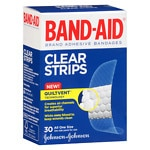 Band-Aid Clear Strips Adhesive Bandages, One Size- 30 ea