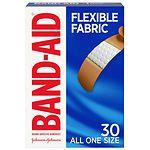 Band-Aid Flexible Fabric Bandages, 3/4 Inch- 30 ea