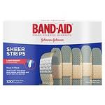 Band-Aid Sheer Comfort Sheer Adhesive Bandages, Regular- 100 ea