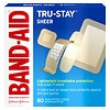 Band-Aid Sheer Comfort Sheer Adhesive Bandages, Assorted, 80 ea