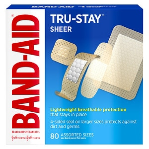 Band-Aid Sheer Adhesive Bandages, Assorted Sizes