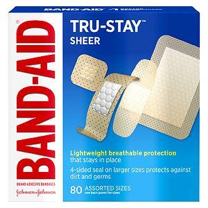 Band-Aid Sheer Comfort Sheer Adhesive Bandages, Assorted