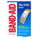 Band-Aid Comfort Sheer Adhesive Bandages, 3/4 in x 3 in- 40 ea