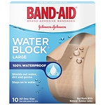 Band-Aid Water Block Plus Adhesive Bandages, 2 in x 3 in- 10 ea