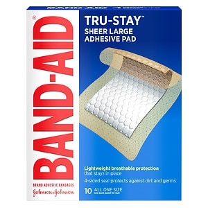 Band-Aid Adhesive Pads Comfort Flex Adhesive Pads, Large