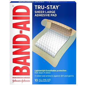 Band-Aid Adhesive Pads Comfort Flex Adhesive Pads, Large- 10 ea