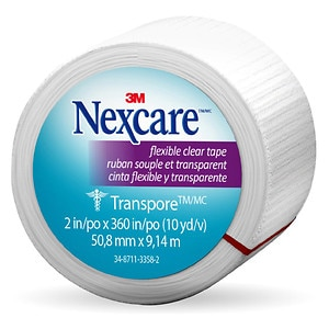 Nexcare First Aid Tape, Transpore Clear, 1 in. x 360 in.- 1 ea